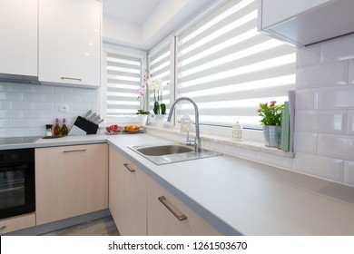Modern kitchen interior in the house