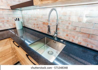 Integrated Kitchen Sink Images Stock Photos Vectors Shutterstock