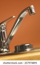 A modern kitchen tap
