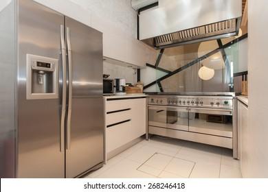 modern kitchen in a villa
