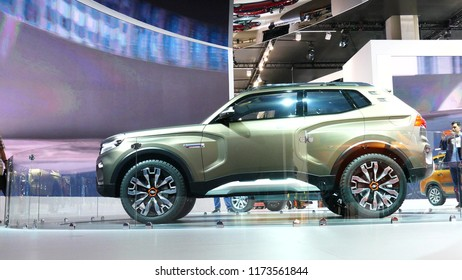 Modern LADA NIVA project at MIMS 2018. SEP 03, 2018 MOSCOW, RUSSIA