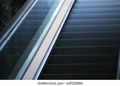 Modern ladder escalator.