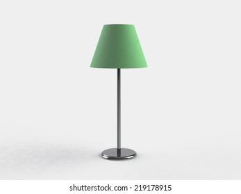 Modern lamp. 3d illustration on white background