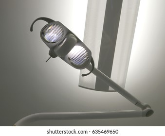 Modern lamp with powerful light in the emergency room