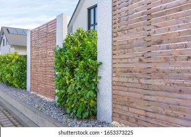 Moderne Landschaften mit einer Hecke für Kirschlaurlaurale