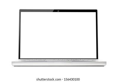 modern laptop isolated on white background