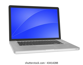 modern laptop isolated on white background .