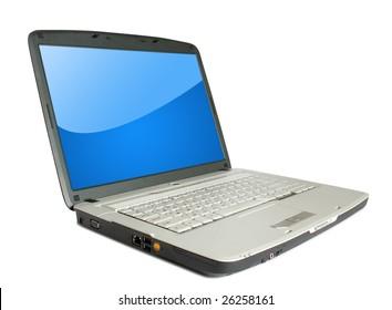 modern laptop on the white