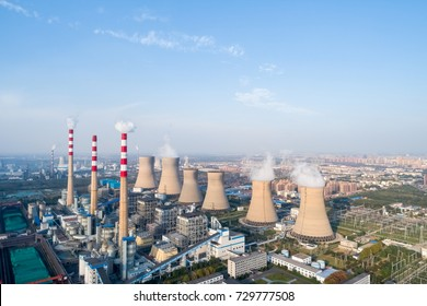modern large thermal power plant in dezhou city ,shandong province,China