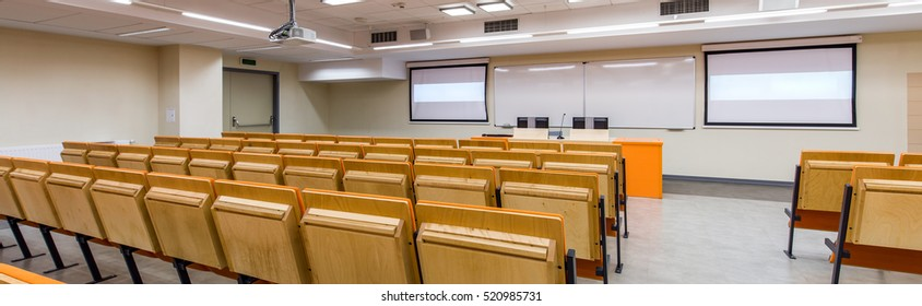 Modern lecture hall for students at the university