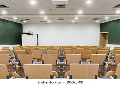Modern Lecture Hall. Theater seating in a college auditorium