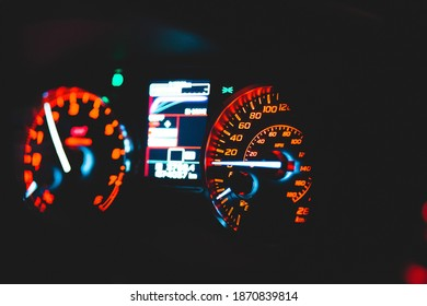 modern led car interior guages and lights