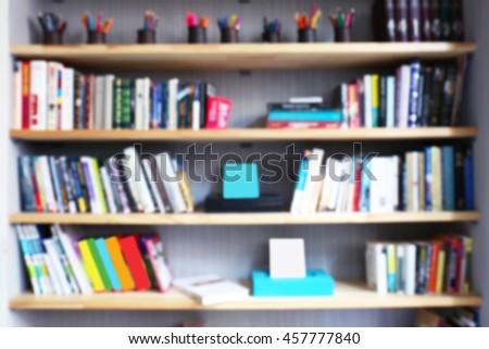 Modern Library Bookshelves Full Books Stock Photo Edit Now
