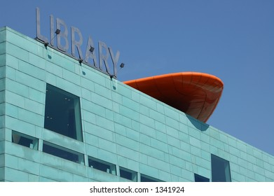 The modern Library in Peckham, London