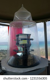 Modern light fixture in the light house of Aruba