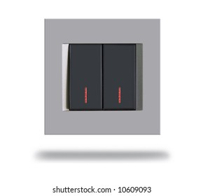 Modern Light Switch - Isolated
