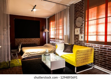 modern living room in bedroom