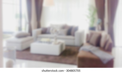 Modern living room blurred image