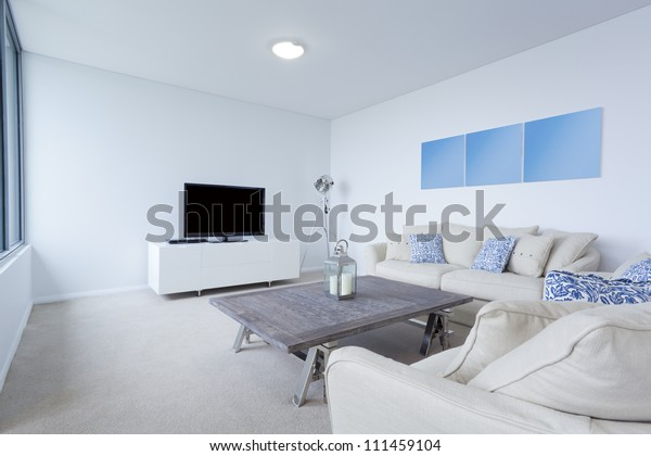 Modern Living Room Couches Tv New Stock Photo (Edit Now ...