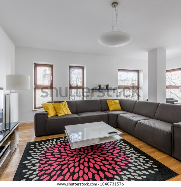 Modern Living Room Extra Large Sofa Stock Photo Edit Now 1040731576