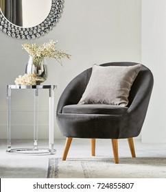 Modern living room interior chair