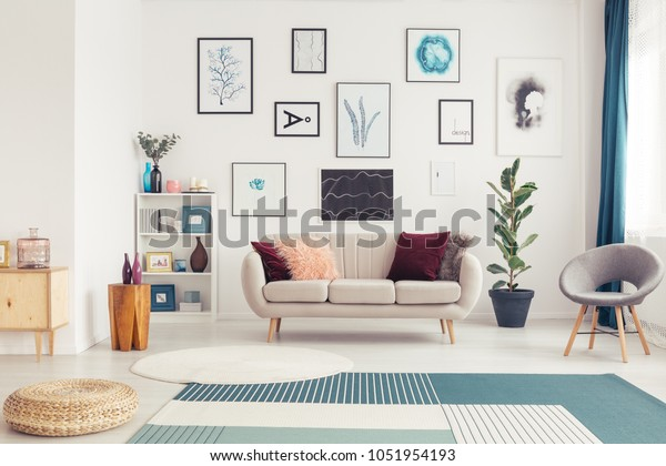 Magnificent Modern Living Room Interior Rugs White Stock Photo Edit Now Beatyapartments Chair Design Images Beatyapartmentscom