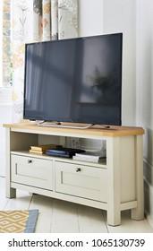 Modern living room interior, TV set