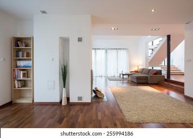 Modern living room in luxury mansion