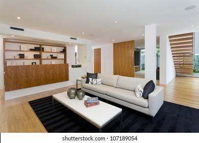 Modern living room in new home