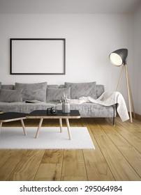 Modern living room - Render of the living room using 3 d s Max