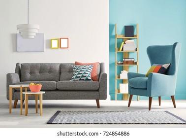 Modern living room and sofa interior. Modern Interior design.