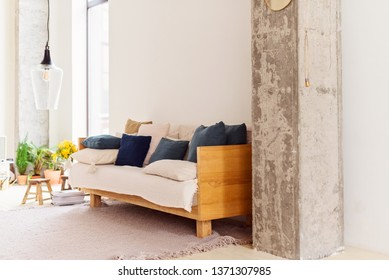 modern living room in the style of hugge