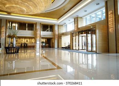 Modern lobby lounge