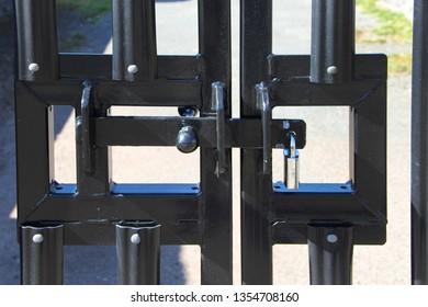 Modern locked gate