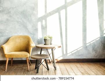 Modern Loft Interior on Sunny Day