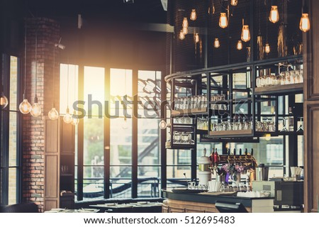 Modern Loft Style Restaurant Decoration Hanging Stockfoto (Jetzt ...