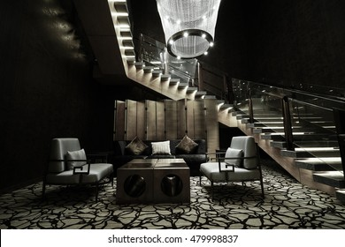 Modern lounge bar interior