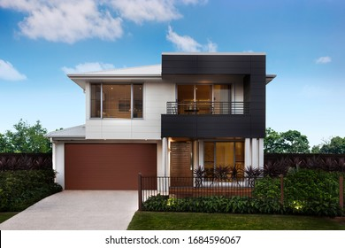 Modern and luxurious two storey villa with garage.