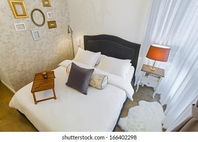 Modern Luxury Bedroom Wallpaper Hotel Room Stock Photo Edit Now