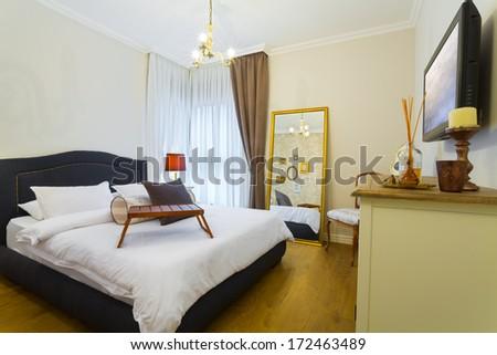 Modern Luxury Bedroom Wallpaper Luxury Hotel Stock Photo Edit Now