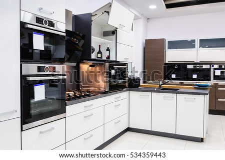 Modern Luxury Hitek Black White Kitchen Stock Photo Edit Now
