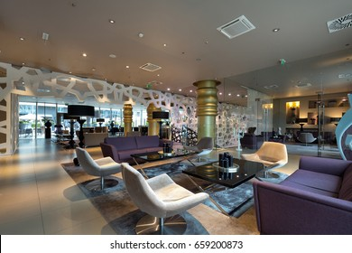 Modern luxury hotel lounge