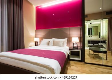 Modern luxury hotel suite interior