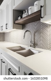 Modern luxury kitchen in a new house