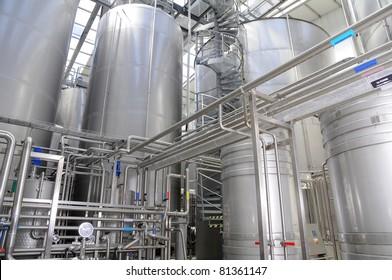 "Modern manufacture of a sparkling wine. ""Abrau-Djurso"" - the centre of wine tourism. Russia. Krasnodar territory. Novorossisk."