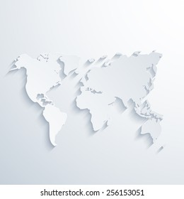 modern map with long shadow. Light background