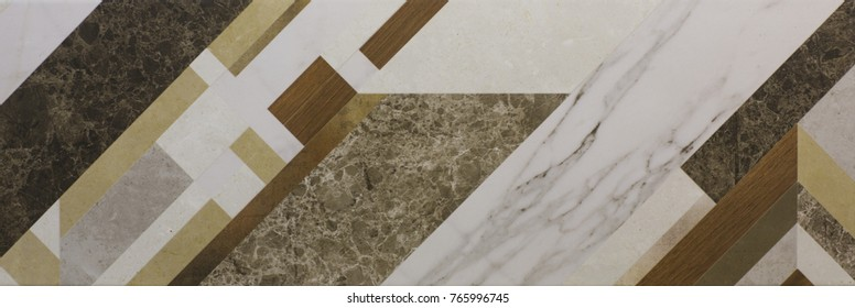 modern marble tile with geometric pattern