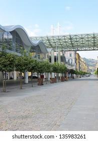 modern market building in la spezia