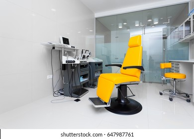 Modern medical room with new equipment