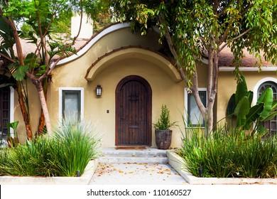 Modern mediterranean style house in Los Angeles, California.  Exterior